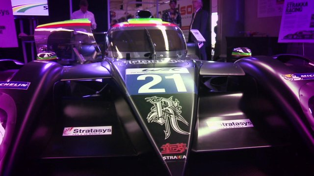 Le Mans racing car containing 3D printed parts