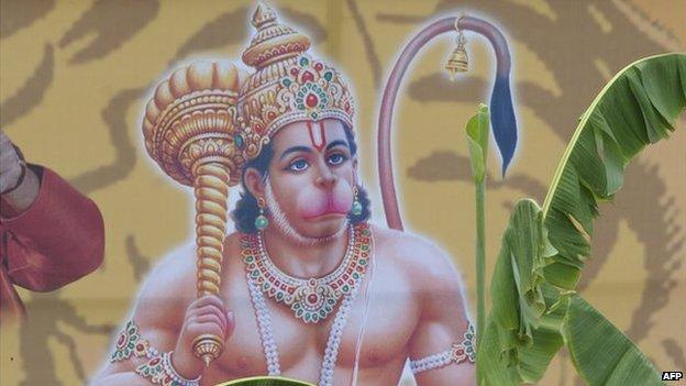 Monkey god Hanuman