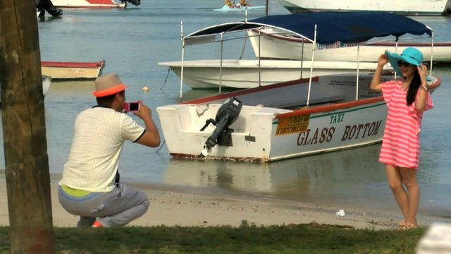 Chinese tourists in Mauritius