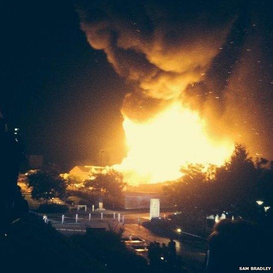 University of Nottingham fire