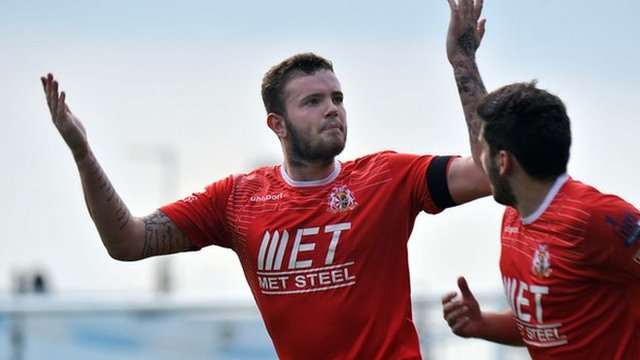 Portadown's Darren Murray scored from the penalty spot against Glenavon at Mourneview Park
