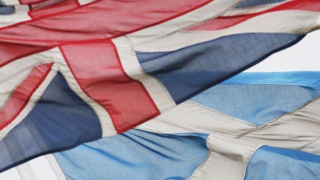 Union flag and Saltire flag