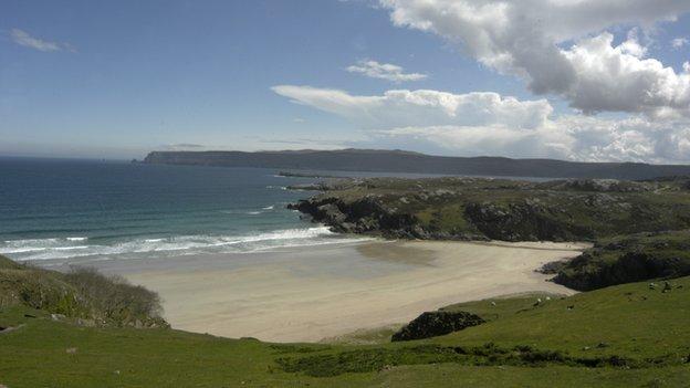 Durness, Scotland - a bay on the north coast.