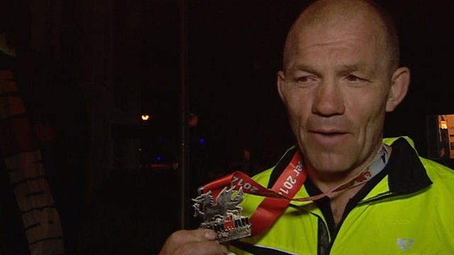 Richard Webster says finishing the Ironman in Tenby was better than playing rugby for Wales