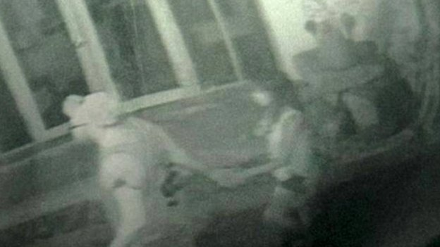 CCTV which Thai Police say shows David Miller and Hannah Witheridge