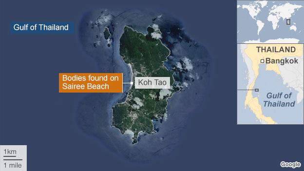 Koh Tao island satellite image
