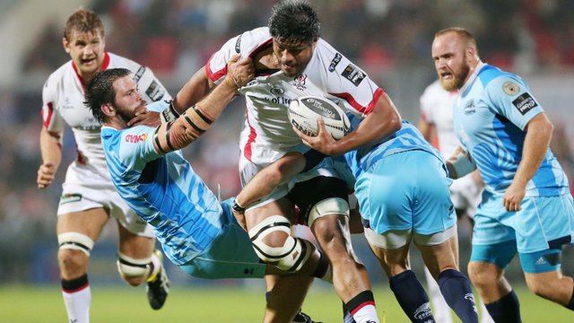 Nick Williams makes a trademark charge against Zebre on Friday night