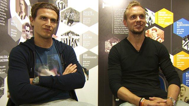 Newcastle's Daryl Janmaat and Siem De Jong