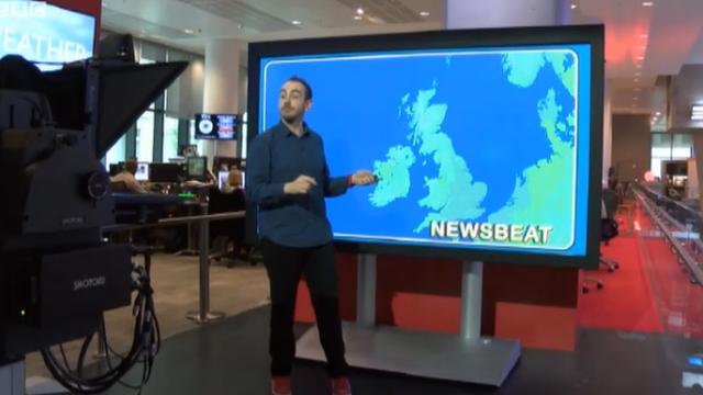 Newsbeat gatecrashed the BBC Weather centre