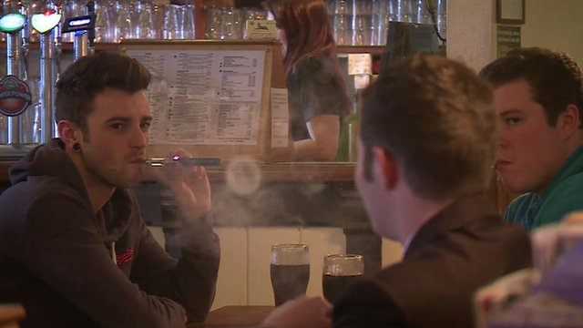 People 'vaping' in bar