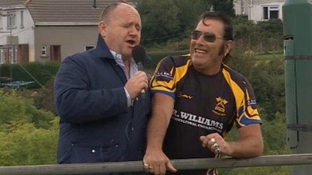 Rick O'Shea with Elvis aka Dai James