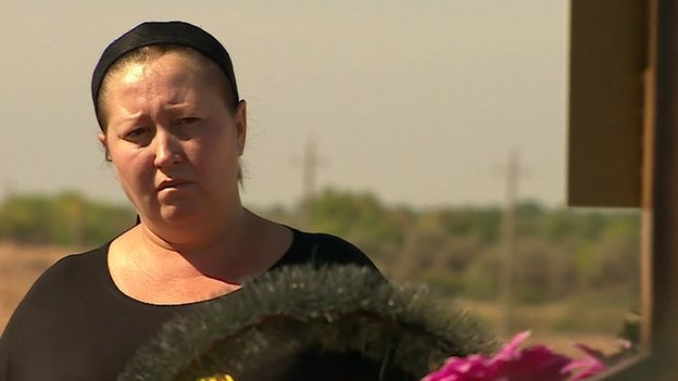 'Oksana' Sister of disappeared Russian soldier Konstantin Kuzmin on 18 September 2014
