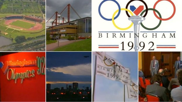 Photos from the 1992 Birmingham Olympic bid launch