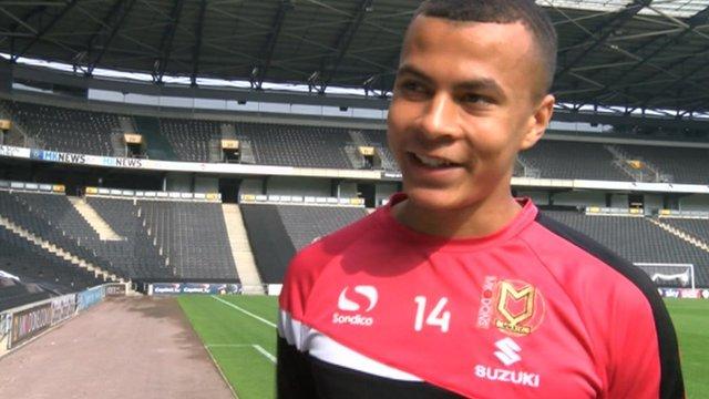 MK Dons teenage midfielder Dele Alli