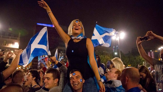 Yes supporters in George Square