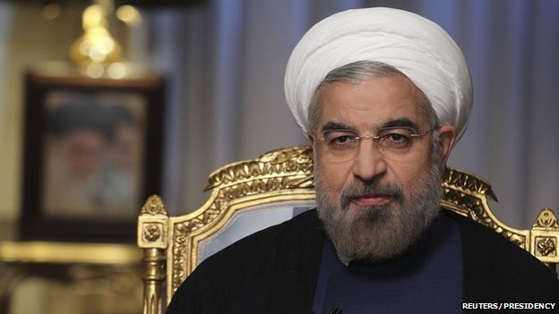 Iranian President Hassan Rouhani Pictured during an interview for Iranian State TV on 10 September 2013