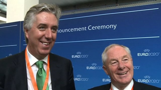 FAI chief executive John Delaney and Irish Minister of State for Tourism & Sport Michael Ring