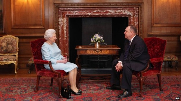 The Queen with Alex Salmond