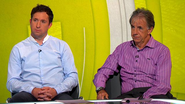 Robbie Fowler and Mark Lawrenson