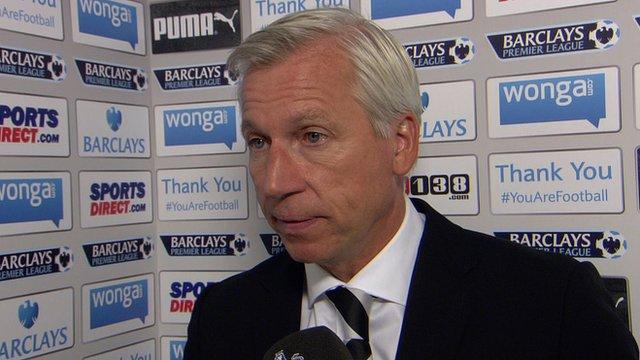 Under-fire Newcastle United boss Alan Pardew