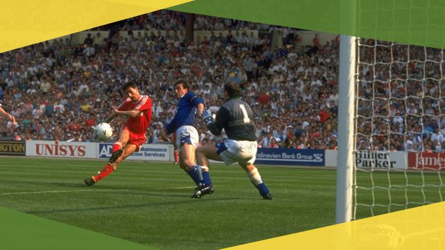 Liverpool's Ian Rush scores