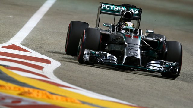 Mercedes driver Lewis Hamilton at Singapore Grand Prix qualifying