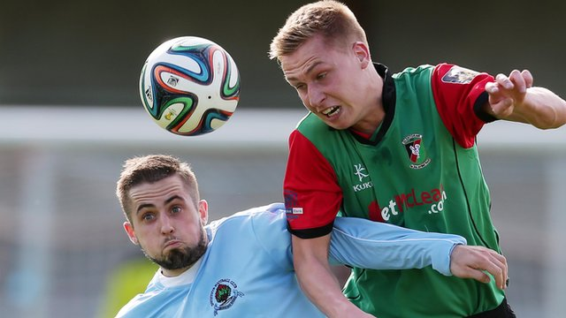Match action from Institute against Glentoran