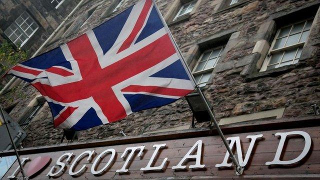 Union flag in Edinburgh