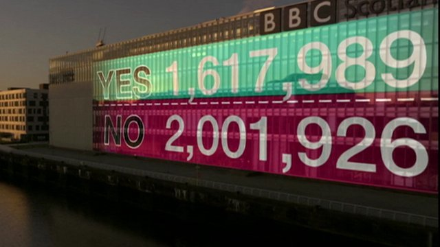 BBC election result graphic