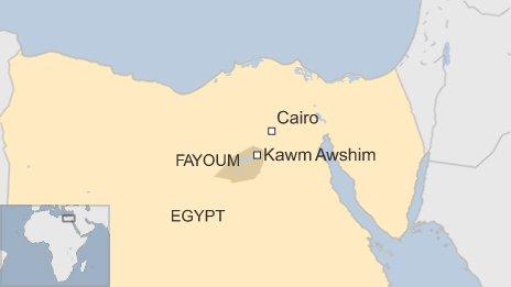 Map of Kawm Awshim