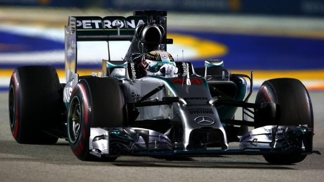 Lewis Hamilton wins as Nico Rosberg retires