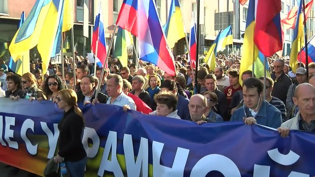 Moscow anti-war rally
