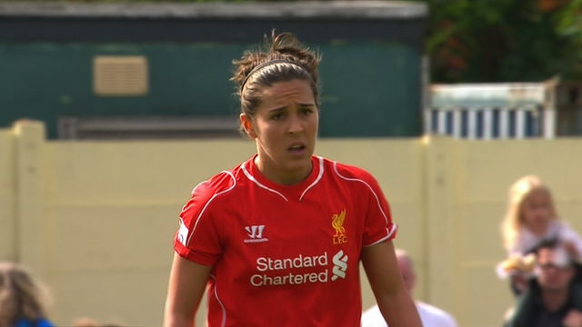 WSL: Fara Williams scores from kick off for Liverpool v Birmingham