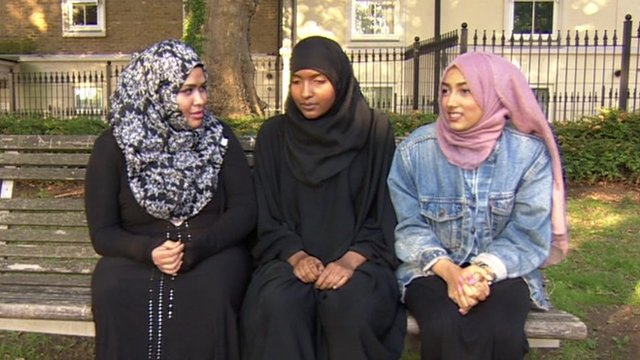 The family and friends of a student refused permission to wear a niqab to school