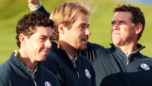 Rory McIlroy, Victor Dubuisson and Lee Westwood are members of Europe's Ryder Cup team