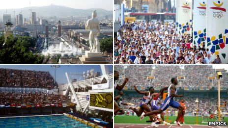 Barcelona in 1992 during the Olympics