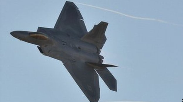 File photo: A US Air Force F-22 Raptor at an airshow in Melbourne, 1 March 2013
