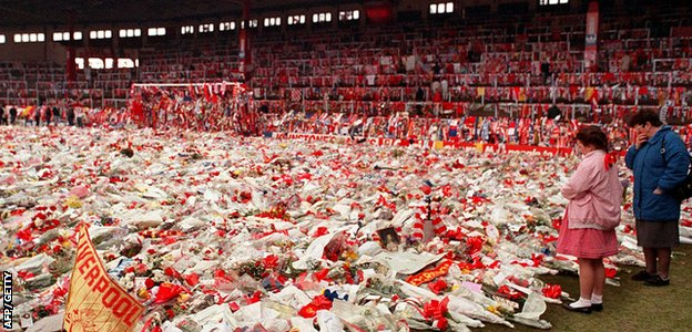 Anfield Hillsborough tribute