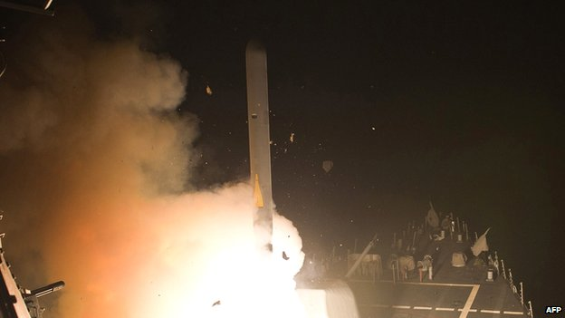 Tomahawk missile, US Navy photo, 23 September 2013