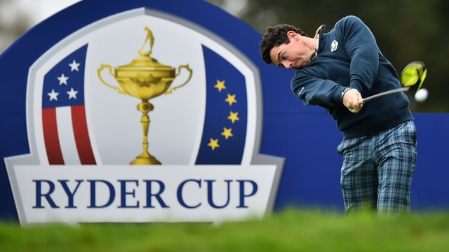 Rory McIlroy practises at Gleneagles