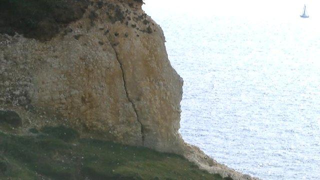 Seaford cliff crack