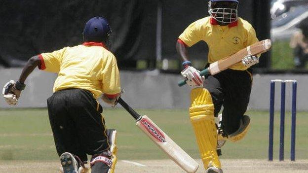 Uganda's batsmen pictured in 2007
