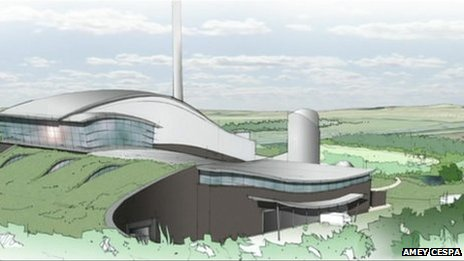 Artist's impression of incinerator
