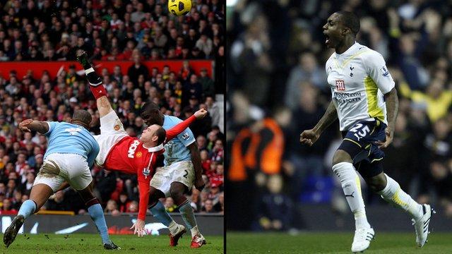 Wayne Rooney and Danny Rose