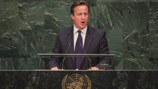 David Cameron at UN