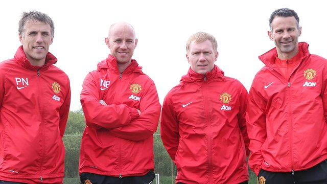 Salford City co-owners Phil Neville, Nicky Butt, Paul Scholes and Ryan Giggs