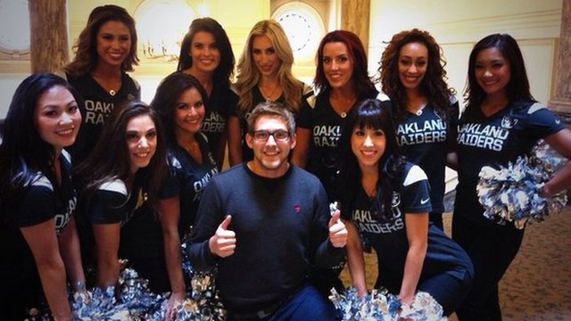 The Oakland Raiderettes are in London to promote American Football