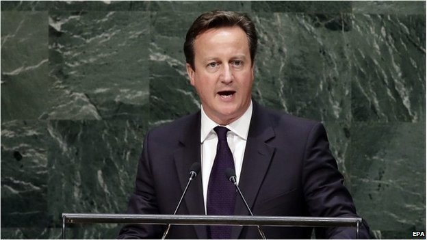 David Cameron at the UN in New York on 25 September 2014