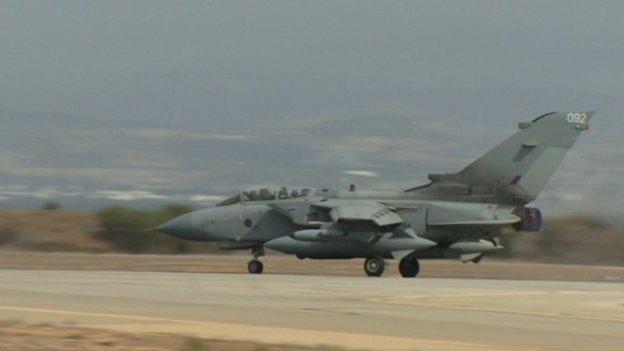 Tornado jet taking off for Iraq