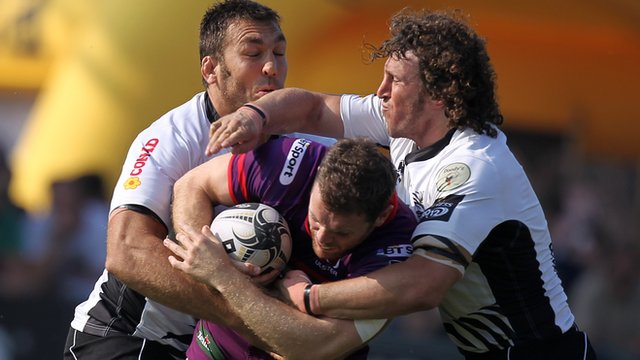 Match action from Zebre against Ulster
